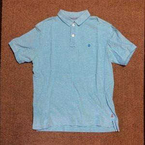 Izod Blue Polo Shirt Button Up Men's Medium